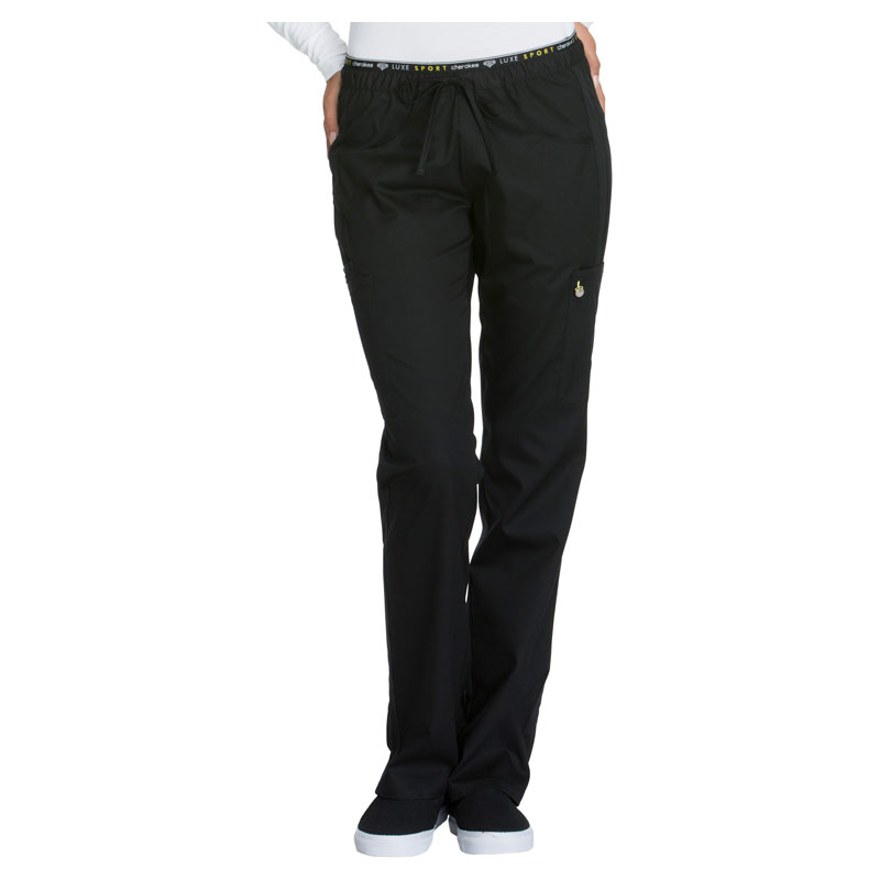 08d95ccb40a Cherokee Luxe Sport Ladies Mid Rise Straight Leg Pull-on Pant - Avg 31