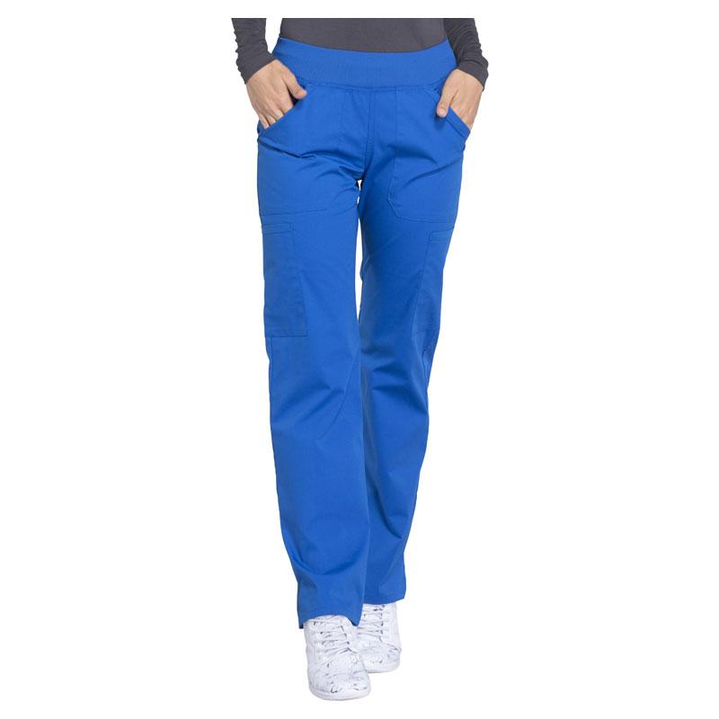 6b1fe62f98f Cherokee Workwear Ladies Mid Rise Straight Leg Pull-on Cargo Pant - Petite  28 1