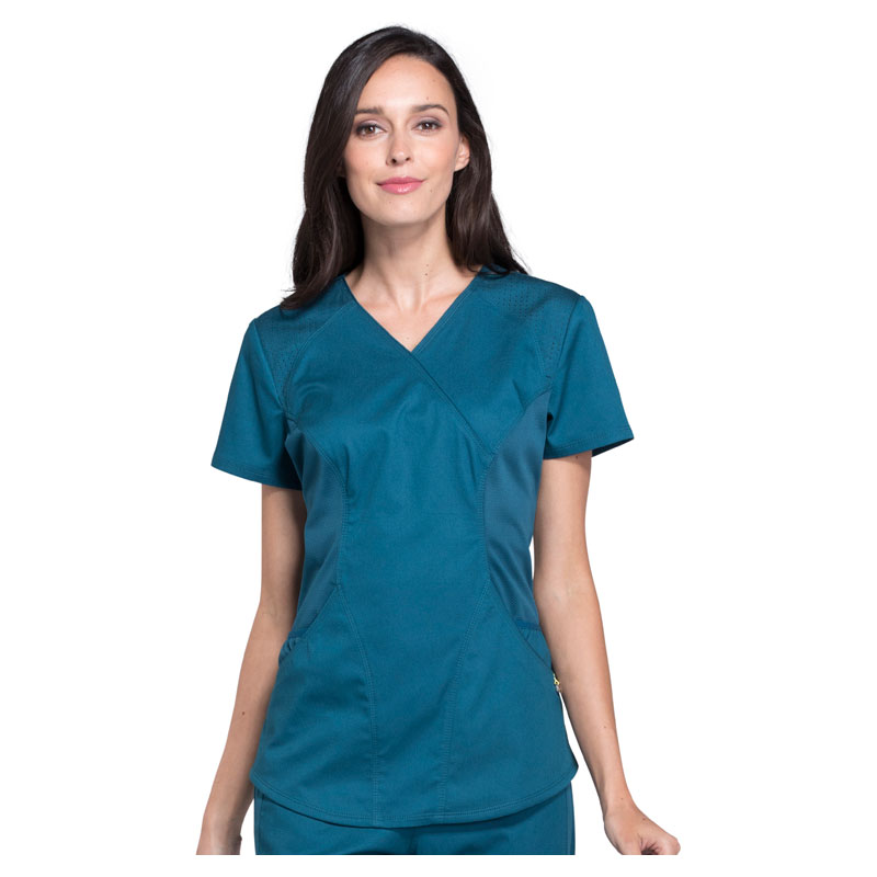 f1e1a70ab72 Cherokee Luxe Sport Ladies Mock Wrap Top