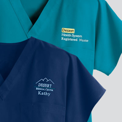 Embroidered Scrubs & Personalized Scrubs
